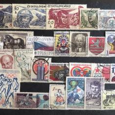5935 - lot timbre Cehoslovacia