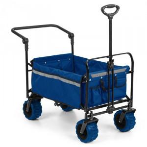 Waldbeck Easy Rider, cărucior de până la 70 kg, telescopic, pliabil, albastru