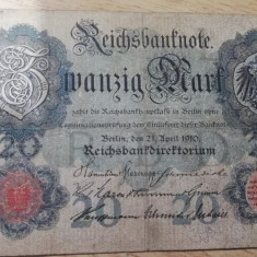 MDBS - BANCNOTA GERMANIA - 20 MARK - 1910