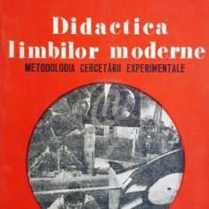 Didactica limbilor moderne. Metodologia cercetarii experimentale