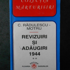 C. RADULESCU-MOTRU - REVIZUIRI SI ADAUGIRI 1944. volumul 2