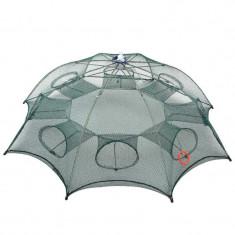 Capcana raci (Varsa) tip umbrela pentru raci si baboi cu 8 intrari