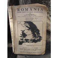 ROMANIA PENTRU CLASA IV SECUNDARA DE BAIETI SI FETE , N. PANDELEA , 1937