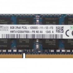 Memorie SODIMM SK Hynix 8Gb DDR3 PC3-12800S la 1600Mhz, 1.35V, HMT41GS6AFR8A-PB