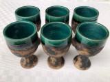 Cumpara ieftin Set de sase pocale pahare din ceramica glazurata suedeza SZILASI VISBY