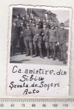 Bnk foto - Militari - Scoala de soferi auto - Sibiu 1944, Alb-Negru, Militar, Romania 1900 - 1950