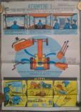 Afis Protectia Muncii din perioada comunista// Folosirea Tractoarelor U-650