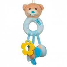 Jucarie zornaitoare, model inel urs, 25 cm, multicolor