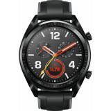 SmartWatch Huawei WATCH GT, Bluetooth, NFC, GPS, corp negru, curea silicon negru