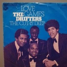 The Drifters – Love Games …(1974/EMI/RFG) - VINIL Single/Impecabil