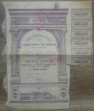Titlu actiuni Letea Prima Societate Romana pentru Fabricarea de Hartie/ anii '40