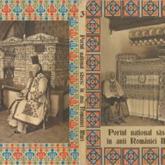 Romania, Portul national sasesc in anii Romaniei Mari, carnet cu 12 c.p.i.