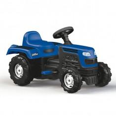 Tractor de jucarie pentru exterior cu pedale, claxon si spatar Ranchero Dolu Albastru foto