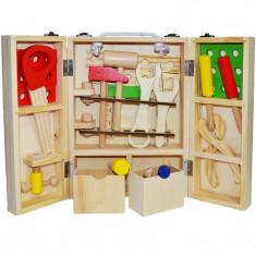 Set de joaca trusa cu unelte din lemn 25 piese