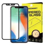 Folie Sticla iPhone XS,iPhone X,iPhone 11 Pro - Wozinsky Full Glue Negru