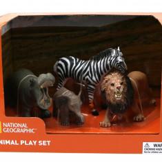 Set 4 figurine - Hipopotam, Elefantel, Zebra si Leu PlayLearn Toys