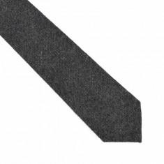 Cravata neagra lata lana Street