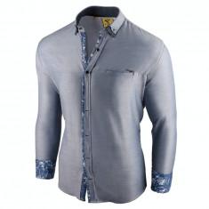 Camasa pentru barbati, slim fit, albastru deschis, casual, cu guler - sedna brighton, 3XL, L, M, XL, XXL