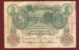Bancnota Germania  - FUNFZIG  MARK  - 50 MARK  1908