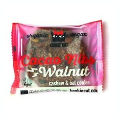 Prajiturica cu Nuci si Cacao Fara Gluten Bio 50gr Kookie Cat Cod: 3800232730488