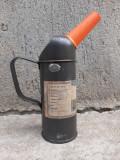 Cană canistră veche ulei recipient vintage măsură 0,5 litri pâlnie Germania