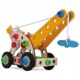 Cumpara ieftin Set constructie din lemn Fun Eichhorn Mobile Crane 70 piese