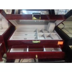 Cutie pentru cesuri, ochelari, bijuterii lemn lucios