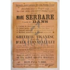 AFIS, SCOALA PRIMARA COM. PARLITA - TELEORMAN , SERBARE, DANS, TEATRU, REGINA BALULUI, 1933