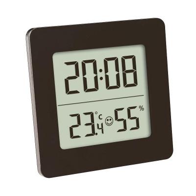 Termometru si higrometru digital TFA, LCD, cu ceas si alarma foto