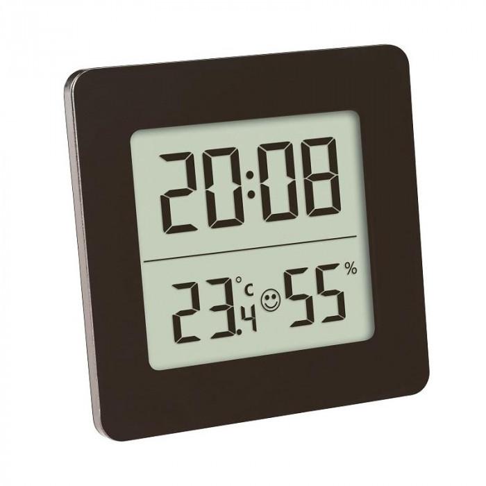 Termometru si higrometru digital TFA, LCD, cu ceas si alarma