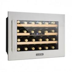 Klarstein KLARSTEIN VINSIDER 24D, frigider integrat de vin, 24 de sticle, oțel inoxidabil