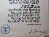 GERMANIA NAZISTA -REVISTA DE PROPAGANDA NSDAP -STAMPILA SI SEMNATURA H. HIMMLER
