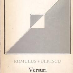 ROMULUS VULPESCU - VERSURI ( CU DEDICATIE SI AUTOGRAF )