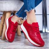 Pantofi sport dama Piele rosii Salira -rl