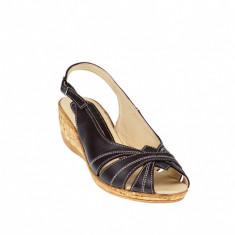 Sandale dama din piele naturala toc 4cm - S52M