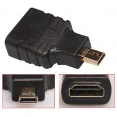 Adaptor micro HDMI tata - HDMI mama, contacte aurite
