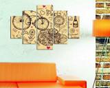 Tablou decorativ multicanvas Miracle, 5 Piese, Paris, 236MIR2916, Multicolor