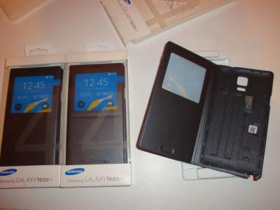 Husa originala telefon Samsung Galaxy Note 4 activa S-view cu CIP noua foto