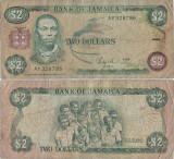 1986 ( 1 III ) , 2 dollars ( P-69b.1 ) - Jamaica