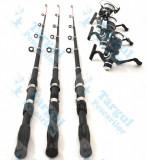 Set de 3 lansete Wind Blade 3,6m cu 3 mulinete Mifine cu fir cadou