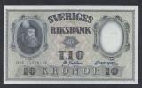 A5154 Sweden Suedia 10 kronor 1958 SEMNATURI DIFERITE aUNC