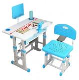Set de birou si scaun pentru copii cu lampa led
