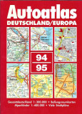 AUTOATLAS DEUTSCHLAND / EUROPA (format A4, 440 pg, ca nou)