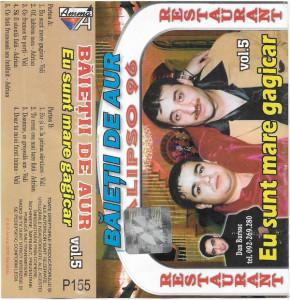 Caseta Adrian - Vali– Băieții De Aur - Eu Sunt Mare Gagicar Vol.5, manele