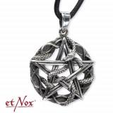 Pandantiv argint Pentagrama cu Serpi K1003