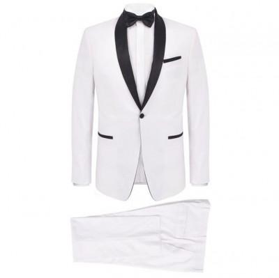 Frac/Costum de seară bărbătesc, 2 piese, mărime 50, alb foto