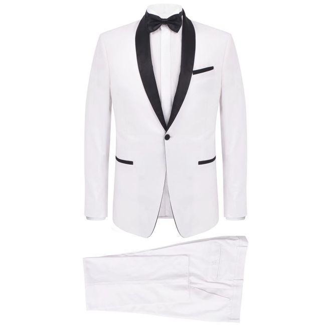 Frac/Costum de seară bărbătesc, 2 piese, mărime 50, alb