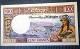 🔥 prima semnatura (1972) 🔥 Noile Hebride 100 Francs bancnota ✅ UNC ✅