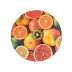 Tocator din sticla Grunberg, 30 cm, model fructe