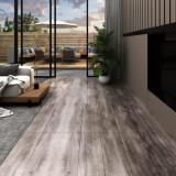 VidaXL Plăci pardoseală autoadezive lemn maro mat 5,02 m² PVC 2 mm